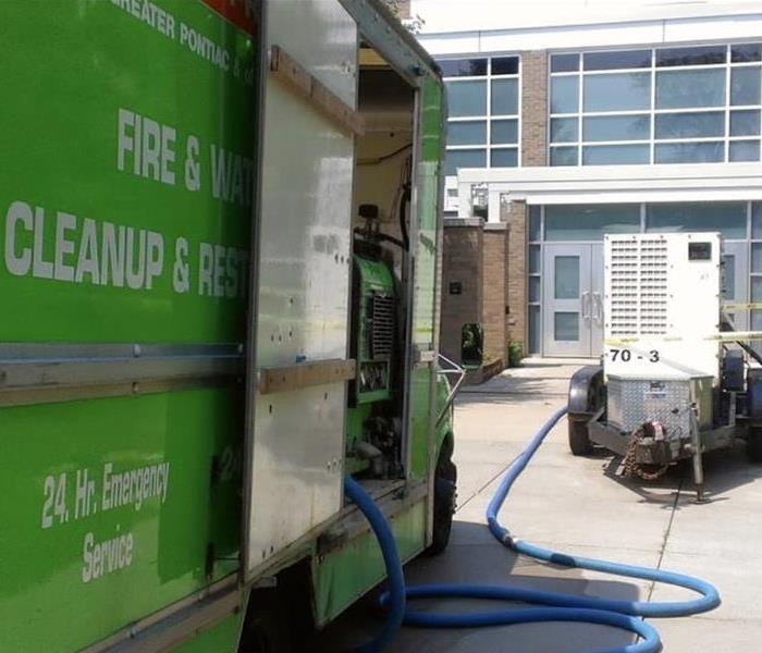 University calls SERVPRO of Greater Pontiac to help with a water cleanup